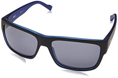 HUGO HG 0176/S, Gafas de sol Hombre, matte black blue, 58