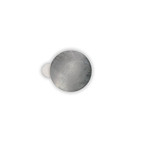 HouseholdBasics 25 x Selbstklebende Metallplättchen (verzinkter Stahl, Ø 21 mm, Höhe 0,3 mm)