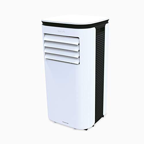 IKOHS SILKAIR Clima - Aire Acondicionado Portátil 3 en 1, Refrigeración, Deshumidificación, Ventilación, Silencioso, Flujo Aire 350 m³/h, Temporizador, Mando a Distancia, Cobertura de hasta 20m²