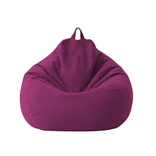 1pc Classic Sofa Chairs Lazy Lounger Bean Bag Storage Chair Indoor Outdoor for Home Garden Lounge Living Room (Purple, 100 * 120cm)