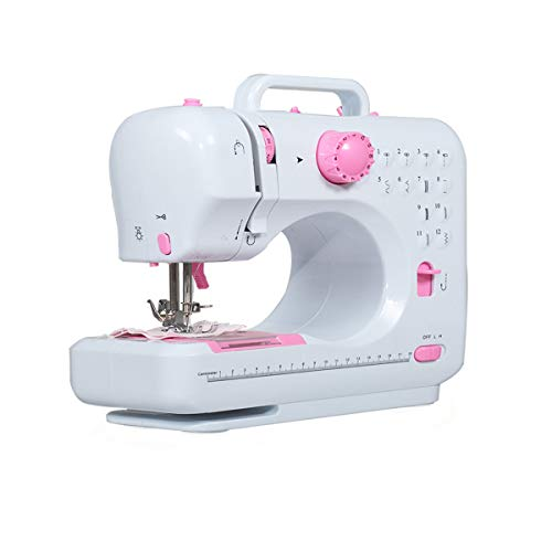 BWM.Co Electric Mini Sewing Machine Crafting Mending Machine w/ 12 Stitches 2 Speed and Thread