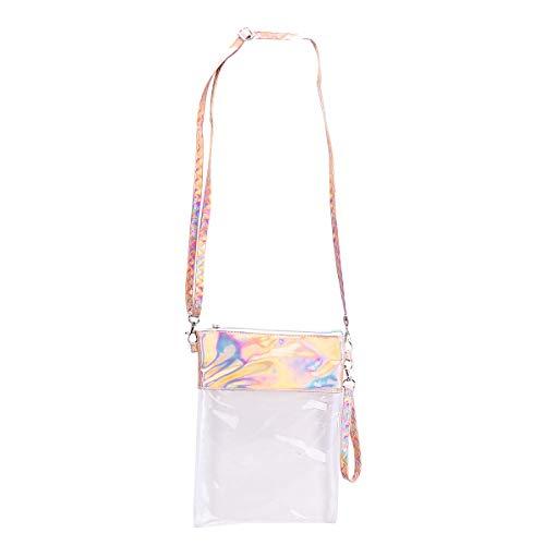 VALICLUD 1pc Umhängetasche Modische PVC Shiny Messenger Bag mit verstellbarem Gürtel für Frauen Mädchen (Golden)