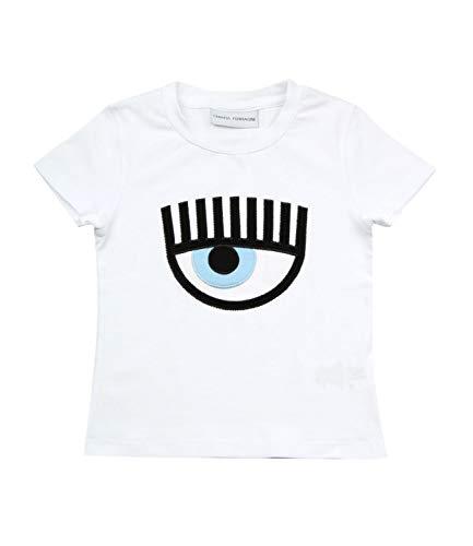Chiara Ferragni T-Shirt in Jersey di Cotone Bambino Kids Girl MOD. CFKT008 7/8