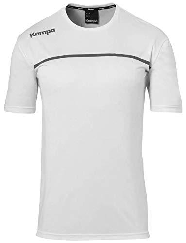 Kempa Kinder Emotion 2.0 Poly Shirt Trikot, weiß/Anthra, 116