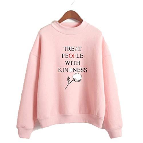 U CAN T-Shirt Unisex Langarm-Sweatshirt Mit Hohem Kragen Schwarz for Harry Styles