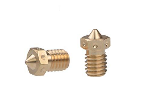 XACQuanyao LMY-POLEY, 3 piezas de cabezal de impresión de boquilla V6 0,3/0,4/0,5 mm 1,75 mm Filamento reemplazar boquilla Prusa I3 3D piezas (tamaño: 0,6 mm)