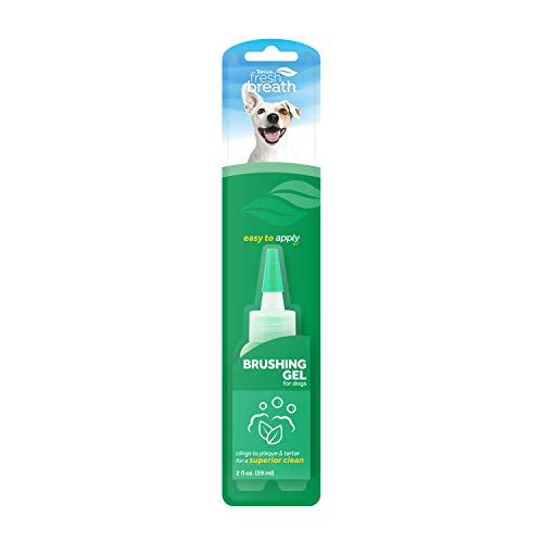 TROPICLEAN Fresh Breath by Gel de Cepillado - Cuidado Bucal para Perros, Mascotas - Dientes Limpios - Combate la Placa y el Sarro - 59 ml
