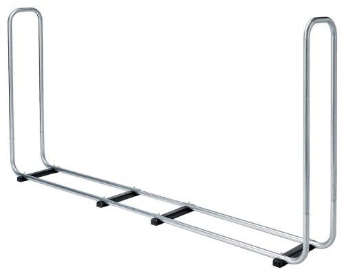 Wolfcraft Stapelhilfe Modular XXL 5125000 / Verstellbare Kaminholzaufbewahrung für den Außenbereich aus verzinktem Stahl / Max. Volumen: 1,6 m³