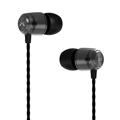 SoundMAGIC E50 High Fidelity Kopfhörer Smartphone Earbuds In Ear Kopfhörer Hochwertige Ohrhörer mit Noise Reduction - Gunmetal