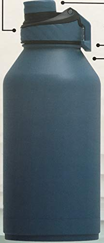 Manna Convoy Double Wall Vacuum Insulated Leakproof Lid Water Bottle | Blue | 1.89 L 64 Oz | 18/8 Stainless Steel| Keeps Liquid Cold Up to 24 Hrs Hot up to 12 hrs | BPA Lead Free