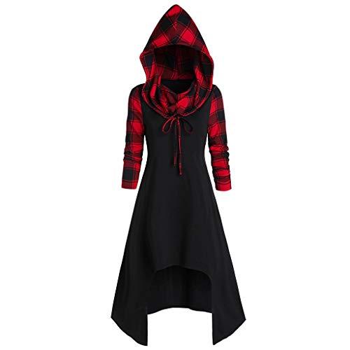 NPRADLA Mittelalter Kleid Damen Vintage Gothic Kleidung Umhang Karneval Kostüm Damen Große Größen Oberteil Sale Pullover für Halloween Weihnachten