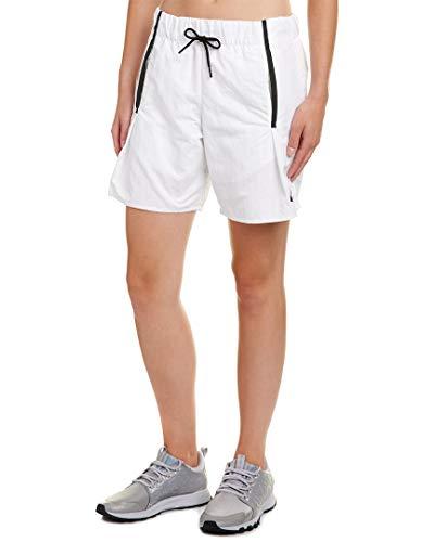 Nike Sportswear Bonded Woven Shorts,White/Black,Small