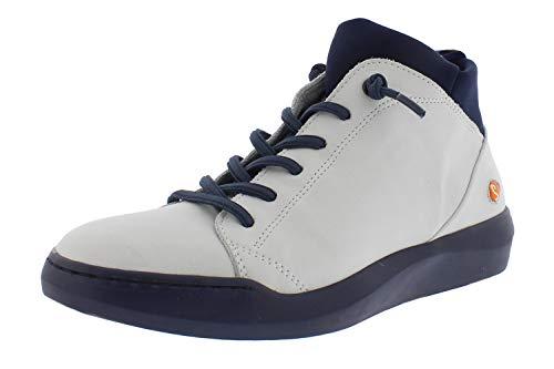 Softinos Damen Sneakers BIEL549SOF, Frauen High Top Sneaker,lose Einlage, Sneaker-Stiefelette Freizeit sportschuh mid-Cut,Weiß(White),38 EU / 5 UK