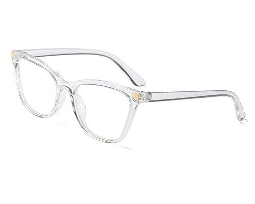 YOFASEN Gafas De Montura Grande Uv400, Anti-Ultravioleta, Anti-Dolor De Cabeza, Anti-Luz Azul Y Anti-Fatiga, Aptas Para Hombres Y Mujeres,Blanco