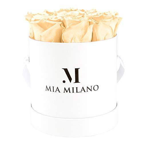 Mia Milano Rosenbox mit Infinity Rosen I Rosenbox mit 9 echten Rosen I 3 Jahre haltbar