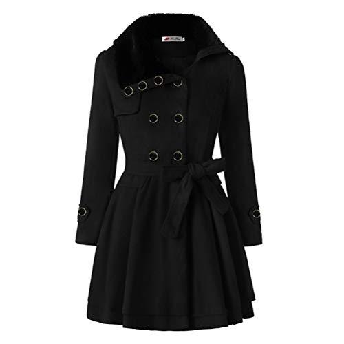 Male god Capa asimétrica con dobladillo para mujer, chaqueta de invierno cálida de manga larga con capucha, chaqueta casual para mujer (color: negro, talla: mediano)
