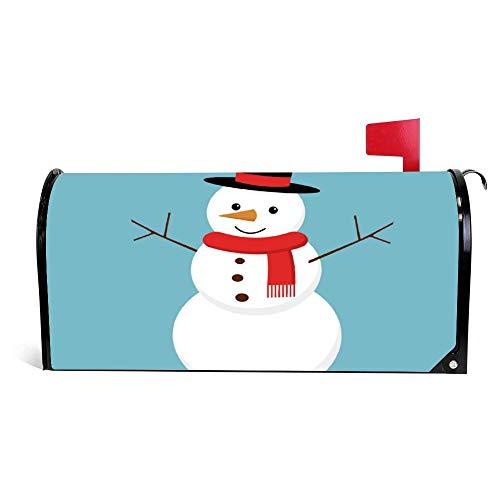 wendana Kerstmis Sneeuwman Geïsoleerd Op Achtergrond Postbus Cover Magnetische Vinyl Thuis Tuin Decor Postbus Wrap Post Brievenbus Cover 18