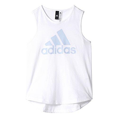 adidas - Fitness-T-Shirts für Mädchen in Weiß (Weiß / Azusen), Größe 170