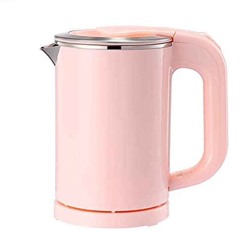 0.5L Portable Electric Kettle, Travel Kettle Silent and Quick To The Touch, Perfect for Traveling Boiling Water, Coffee, Tea (Pink)