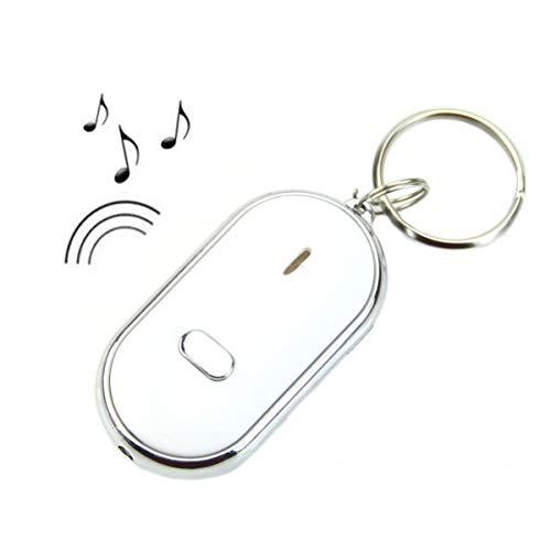 LKXHarleya Anti Lost Key LED Llavero Sonido Whistle Control Buscador De Llaves Localizador Find Lost Key Ring