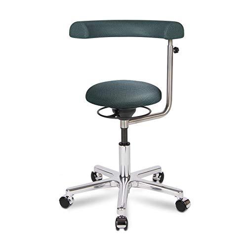 BALIMO OFFICE, Bürohocker, Sitzhocker, ergonomischer Rücken-Trainer, Bezug dunkelgrau, mit Softpolster