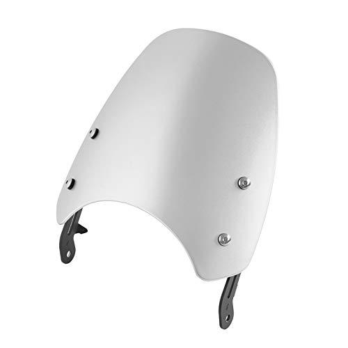 Motorcycle Glass Spoiler Motorcycle Windscreen Deflector Fit For 2016 2017 2018 2019 2020 Triumph Bonneville T100 T120 Accesorios Parabrisas de Motocicleta Universal (Color : Silver)