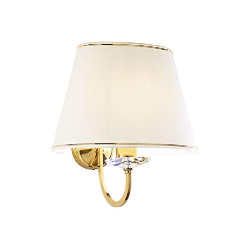 Kolarz IMPERIAL - Lámpara de pared de tela clásica, latón inglés, 1x E27