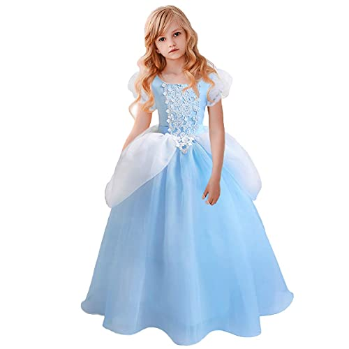 Cinderella Costume for Girls Cinderella Dress Princess Dresses for Girls Halloween Party Cosplay 2-9T