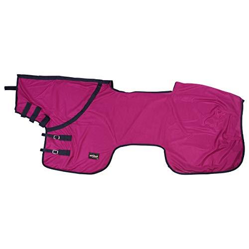 Epplejeck Ausreit/Fliegendecke mit Halsteil- Pink-135 cm