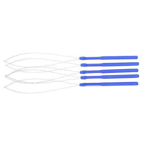 Fenteer Aiguille à Crochet pour cheveux Dreadlocks mini Tresses - Bleu