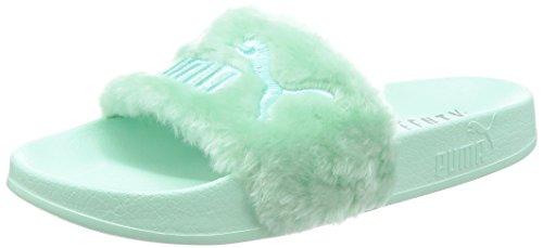 Puma Damen Badeschuhe Fur Slide Silber (12) 37