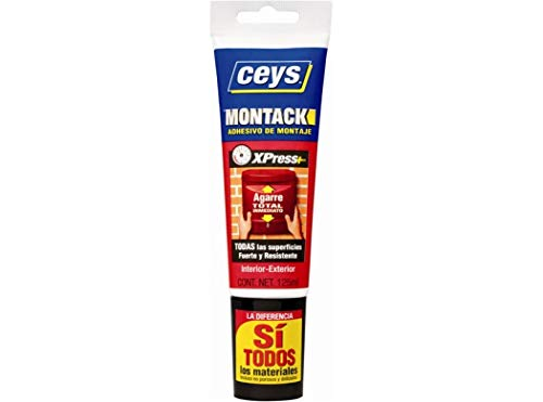 CEYS 507252 Montack express plus tubo 125 ml, Azul, 0