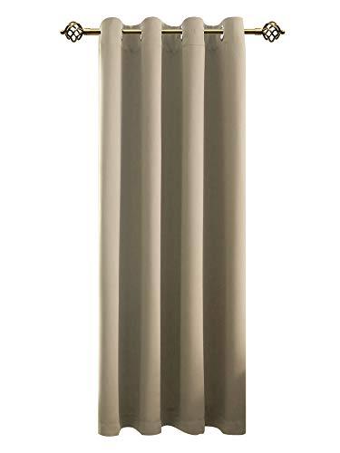 FLOWEROOM Verdunkelungsvorhang Blickdichte Gardinen - Lichtundurchlässige Vorhang mit Ösen für Schlafzimmer Geräuschreduzierung Beige 245x140cm(HxB), 1 Stück