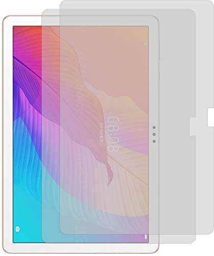 4ProTec I 2X Schutzfolie KLAR passgenau für Huawei Enjoy Tablet 2 - Bildschirmschutzfolie Schutzhülle