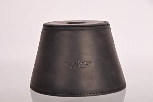 Trompetendämpfer magnetisch leichter Leder Dämpfer für Jazz und klassische Trompeten, MG Leather Work (Trompete, schwarz)