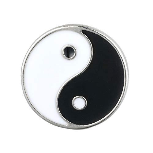 Null Karat Anstecknadel Brosche Anstecker Pin Yin und Yang China Yoga Daoismus
