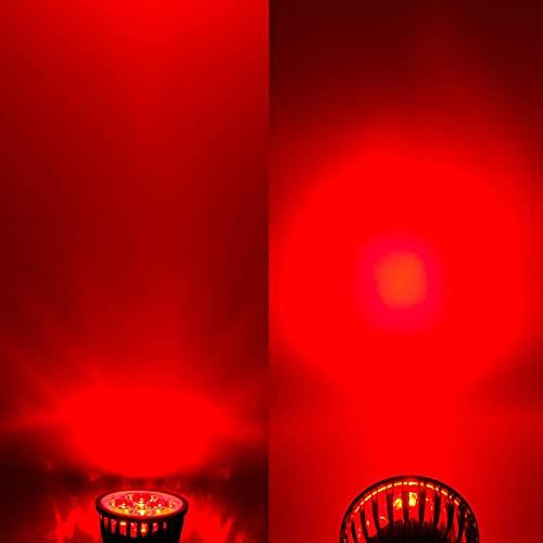 GHC LED Bombillas 5pcs / Lot LED Luces de maíz LED Lámpara Fotlight E12 E14 E27 MR16 GU10 LED Bulbs 6W 9W 12W AC110V 220V Luces de Techo y iluminación (Color emisivo : Rojo, Support Dimmer : No)