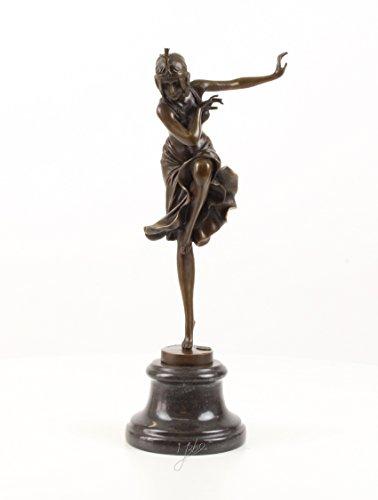 Bronzefigur Skulptur Figur Deko Hindu Tänzerin 39,1 cm