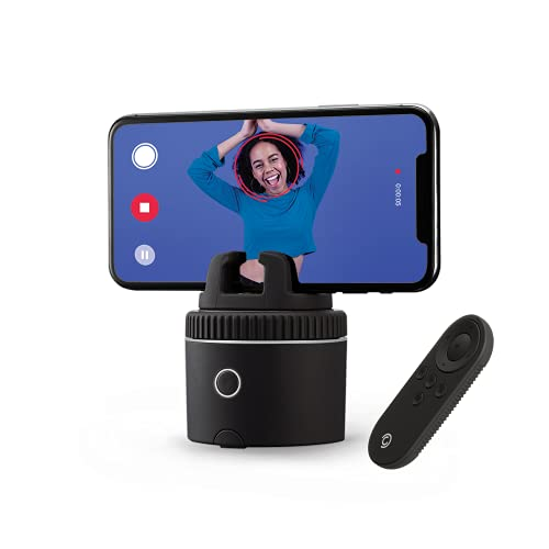 Pivo Pod Silver mit Fernebdienung - Schnelles Auto-Tracking Handyhalterung basierend auf KI (AI) - 360 Kamerarotation - Aktiver Lebensstil Sportaktivitäten im Freien und Reitsport