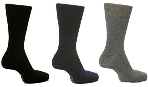 6 Paar Herren Leichte Handgriff Waben Top Socken Nicht Elastisch von Drew Brady / Verschiedene Farbe Designs zum Auswählen / UK Größen 6-11 & 12-14 - Dunkel Gemischt, UK 6-11 Eur 39-45