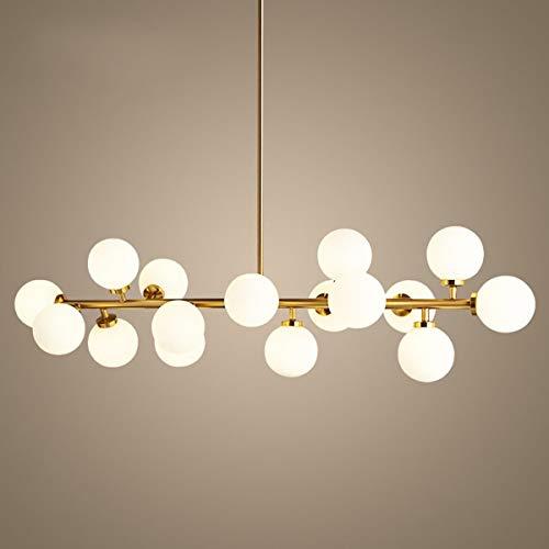 """XinQing Lámparas de araña Post-Moderna de la lámpara 16 Gafas Redondas LED de luz de Techo Colgante, Forma de ADN con Bombillas LED G4 (3,9"""" Pantalla)"""