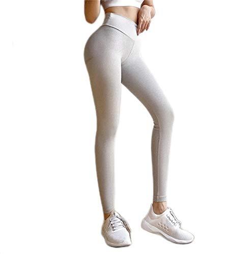 YIFEID Leggings Mujer Mujeres Deporte Leggings Fitness Ropa Deportiva Mujer Gimnasio Legging Alta Cintura Yoga Pantalones Panza Control Gimnasio Elástico
