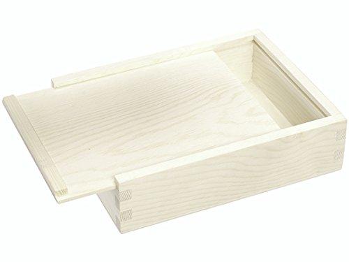 Knorr Prandell - Caja con Tapa Deslizante (Madera FSC, 16 x 12,5x4,5 cm), Color marrón