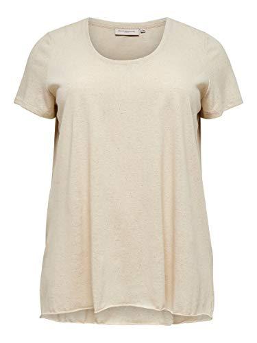 ONLY Carmakoma womens, Shirt, Elfenbein (Oatmeal), M-46/48