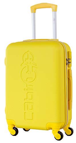 CABIN GO MAX 5585 Valigia Trolley rigido in ABS grande valigia con ruote, Idoneo Ryanair e Easyjet 55x40x20, Bagaglio a Mano Ultra Leggero in ABS con Chiusura TSA