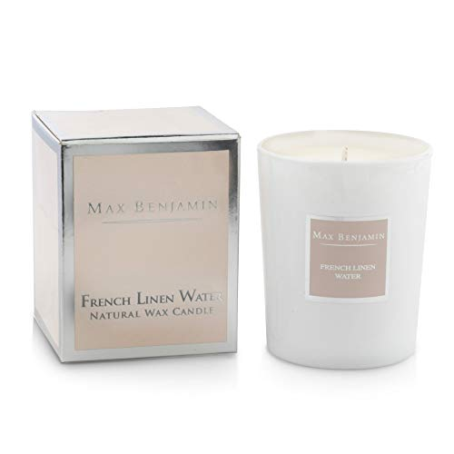 Max Benjamin French Linen Water Luxury Natural Candle - C9