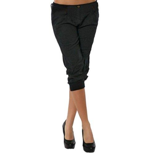 Preisvergleich Produktbild Amlaiworld Damen 1 / 2-2 / 3 kurz locker Gemütlich Hosen Elegant Sport Sommer Casual Pants mit Tasche Outdoor elegant Pumphose Fitness Mode Freizeithosen