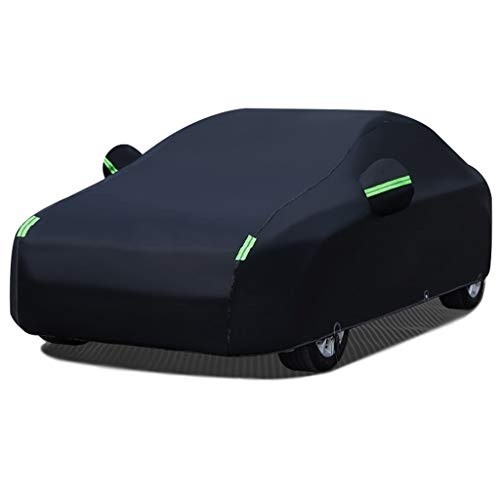 XLLH-YY Car Cover/Compatible With VOLVO V90 / Keep Warm Indoor And Outdoor Universal Against Scratch Breathable Car Cover Built-in Lint Thicken Waterproof (Color : Black)