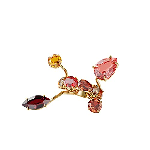 Swarovski Anillo Gema, Multicolor, Baño tono oro