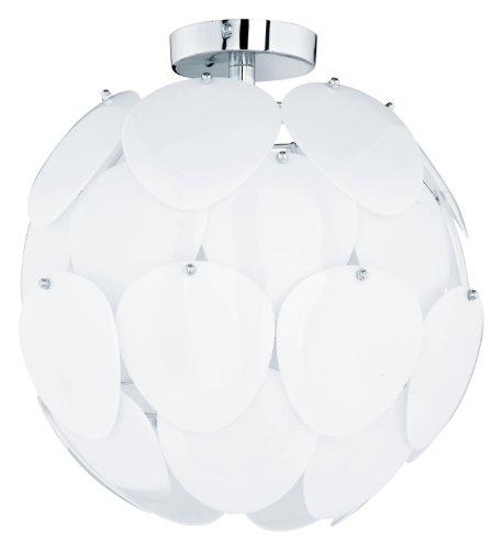 Reality Leuchten Deckenleuchte in chrom mit Acrylscheiben weiß / 1 x E27 max. 60 W exklusive Leuchtmittel / ø 38 cm R60051001